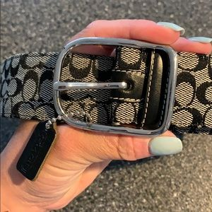 Coach Signature Pattern Belt